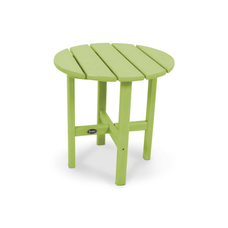 "Cape Cod Round 18"" Side Table in Lime"