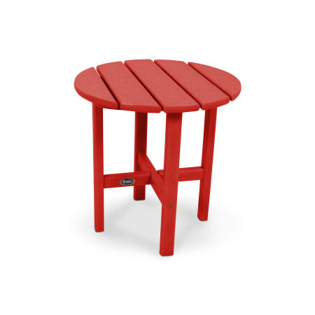 "Cape Cod Round 18"" Side Table in Sunset Red"