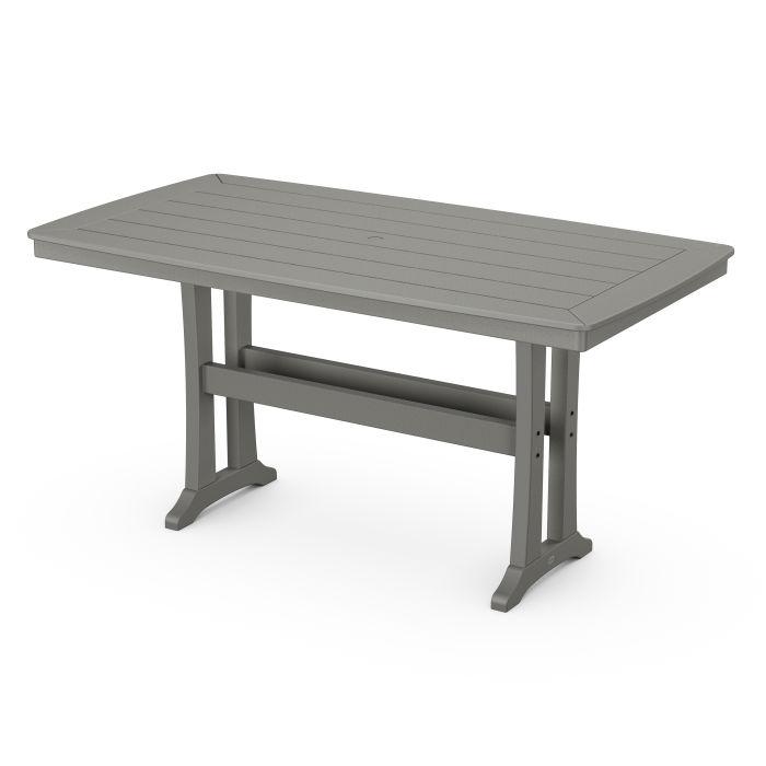 "Nautical Trestle 38"" x 73"" Counter Table"