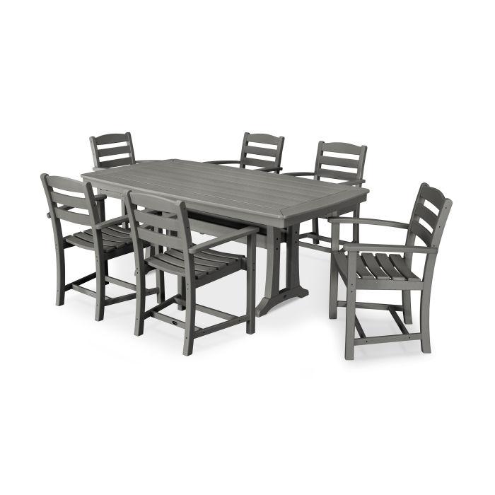 La Casa Café 7 Piece Arm Chair Dining Set