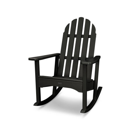 Cape Cod Adirondack Rocking Chair in Charcoal Black