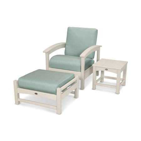 Rockport 3-Piece Deep Seating Set in Sand Castle / Spa