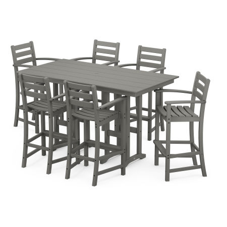 Monterey Bay 7-Piece Farmhouse Arm Chair Bar Set