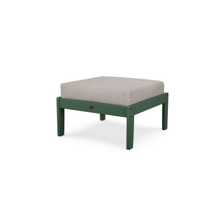 Yacht Club Deep Seating Ottoman in Rainforest Canopy / Weathered Tweed