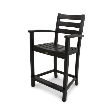 Monterey Bay Counter Arm Chair in Charcoal Black