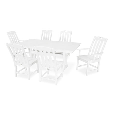 Yacht Club 7-Piece Farmhouse Dining Set in Classic White