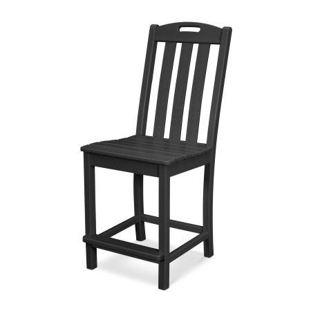 Yacht Club Counter Side Chair in Charcoal Black