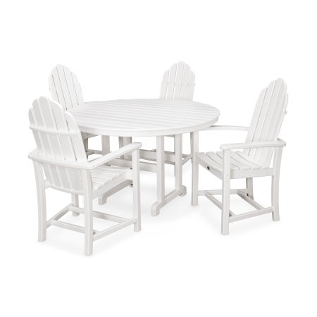 Cape Cod 5-Piece Dining Set in Classic White
