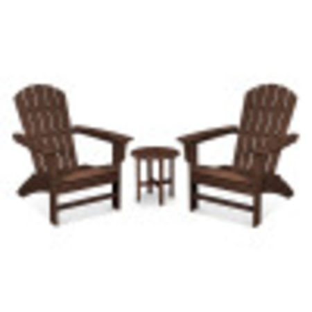 Yacht Club 3-Piece Adirondack Set in Vintage Lantern