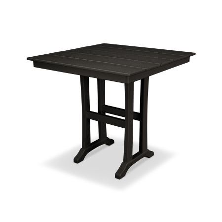 "Farmhouse 37"" Counter Table in Charcoal Black"