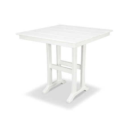 "Farmhouse 37"" Counter Table in Classic White"