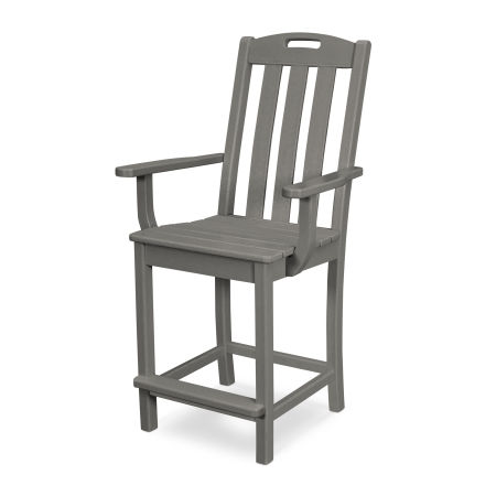 Yacht Club Counter Arm Chair in Stepping Stone