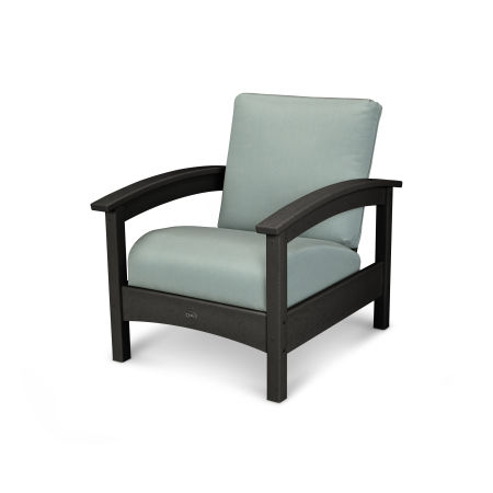 Rockport Club Chair in Charcoal Black / Spa