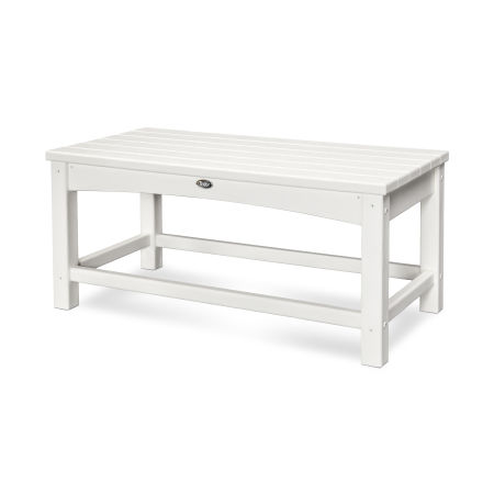 Rockport Club Coffee Table in Classic White