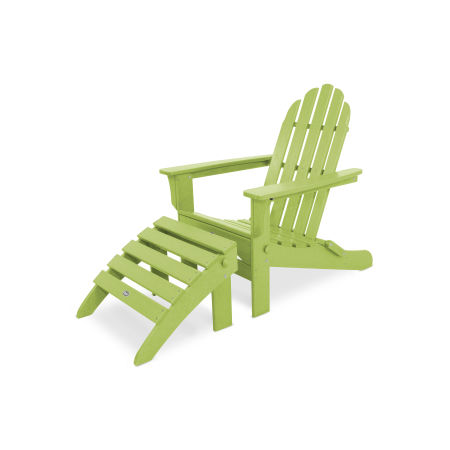 Cape Cod 2-Piece Folding Adirondack Seating Set in Lime