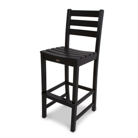 Monterey Bay Bar Side Chair in Charcoal Black