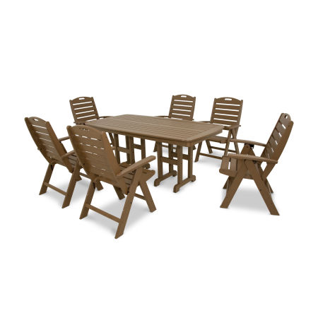 Yacht Club Highback 7-Piece Dining Set in Tree House