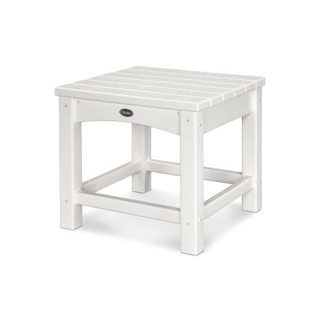 "Rockport Club 18"" Side Table in Classic White"