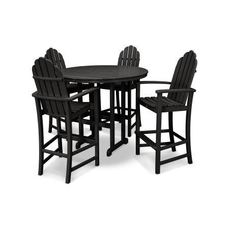 Cape Cod 5-Piece Bar Set in Charcoal Black