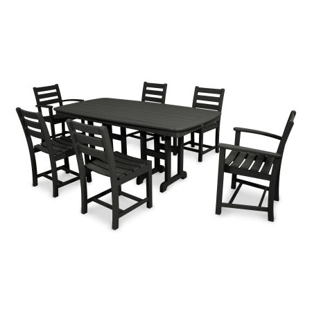 Monterey Bay 7-Piece Dining Set in Charcoal Black
