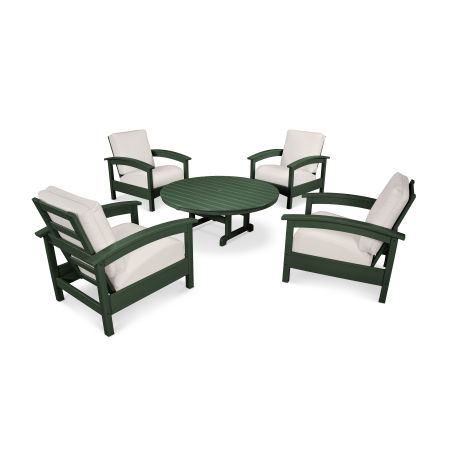Rockport 5-Piece Deep Seating Set in Rainforest Canopy / Bird's Eye
