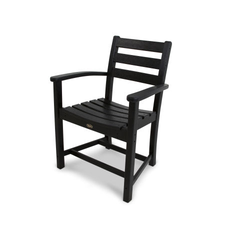 Monterey Bay Dining Arm Chair in Charcoal Black