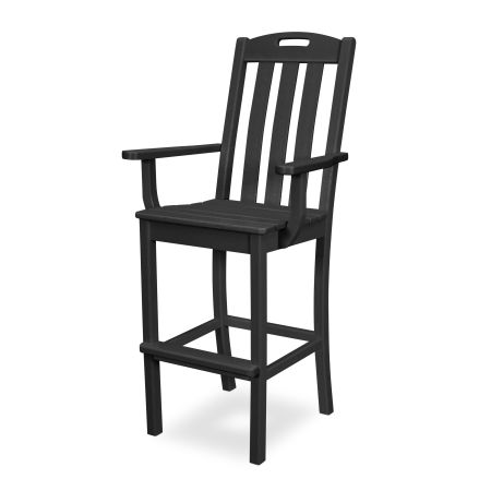 Yacht Club Bar Arm Chair in Charcoal Black