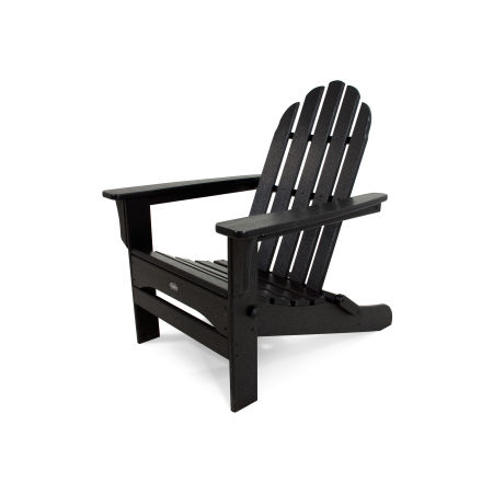 Cape Cod Folding Adirondack in Charcoal Black