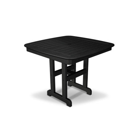 "Yacht Club 37"" Dining Table in Charcoal Black"