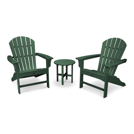 Yacht Club Shellback 3-Piece Adirondack Set in Rainforest Canopy