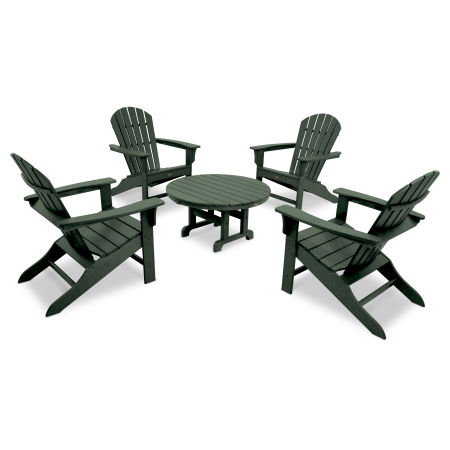 Yacht Club Shellback 5-Piece Adirondack Conversation Group in Rainforest Canopy