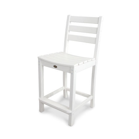 Monterey Bay Counter Side Chair in Classic White