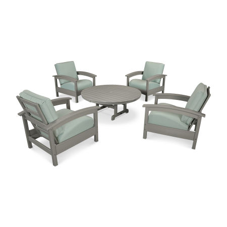 Rockport 5-Piece Deep Seating Set in Stepping Stone / Spa