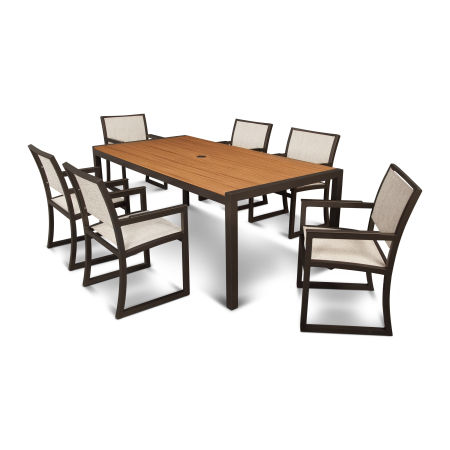 Parsons 7-Piece Arm Chair Dining Set