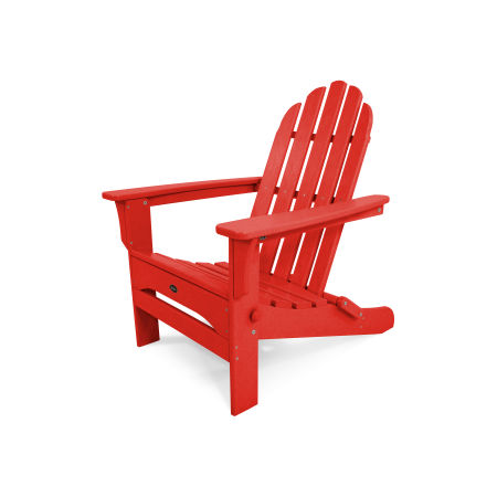 Cape Cod Folding Adirondack in Sunset Red