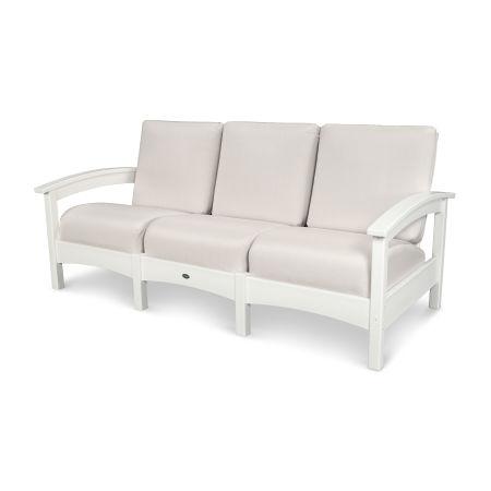 Rockport Club Sofa in Classic White / Bird's Eye