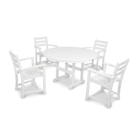 Monterey Bay 5-Piece Dining Set in Classic White