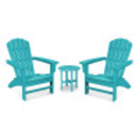 Yacht Club 3-Piece Adirondack Set in Aruba