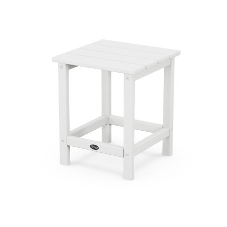 "Eastport 18"" Side Table in Classic White"