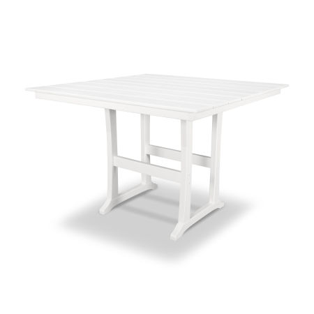 "Farmhouse 59"" Bar Table in Classic White"