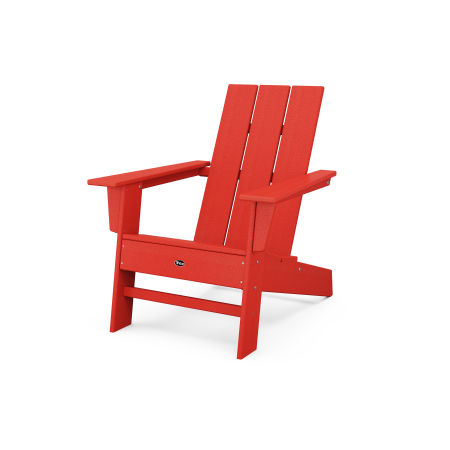 Eastport Modern Adirondack Chair in Sunset Red