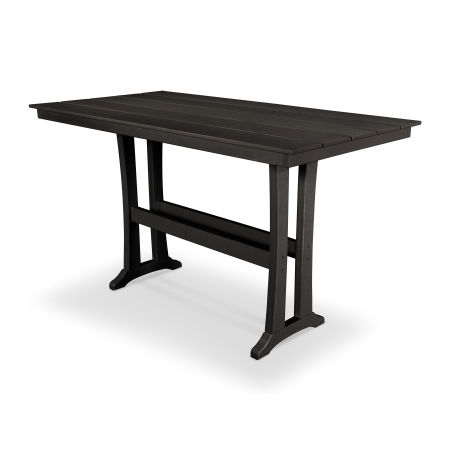"Farmhouse 37"" x 72"" Bar Table in Charcoal Black"