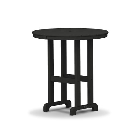 "Monterey Bay Round 36"" Counter Table in Charcoal Black"