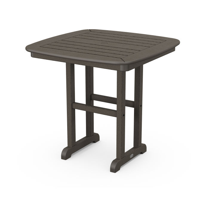 """Nautical 31"""" Dining Table in Vintage Finish"""
