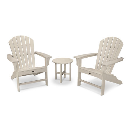 Yacht Club Shellback 3-Piece Adirondack Set in Sand Castle