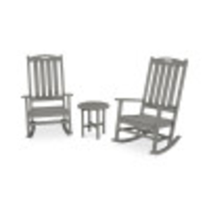 Nautical 3-Piece Porch Rocking Chair Set