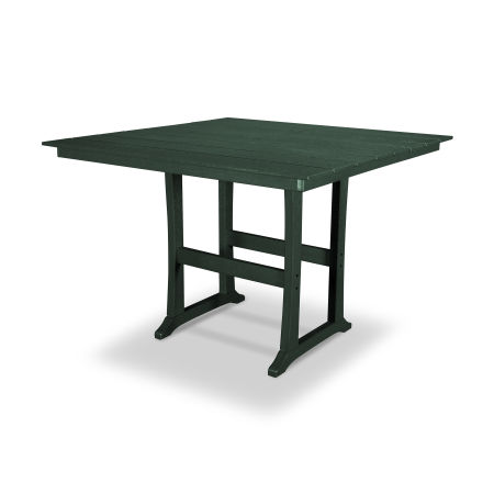 "Farmhouse 59"" Bar Table in Rainforest Canopy"