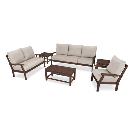 Yacht Club 6-Piece Deep Seating Set in Vintage Lantern / Cast Ash