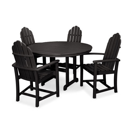 Cape Cod 5-Piece Dining Set in Charcoal Black