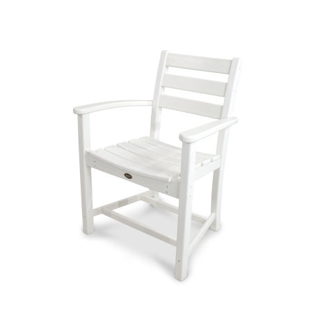 Monterey Bay Dining Arm Chair in Classic White